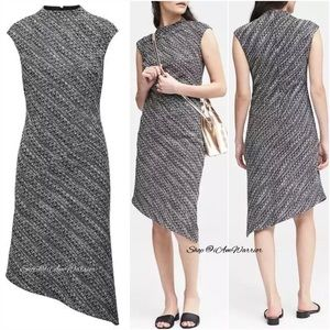 Banana Republic NWT tweed asymmetrical dress